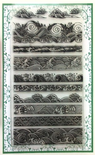 Ocean Waves Borders Clear Stamps Set (4
