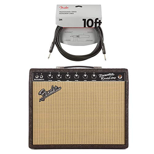 (Fender '65 Princeton Reverb FSR Brown Western w/Jenson C12Q Speaker Cable Bundle)