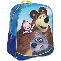 [RusToyShop] Average Preschool Backpack Masha and The Bear, Baby Bag, Small Backpack Kids, Bag Girl Cute Backpack Kindergarten for Baby, Gray, Little Girl, Pink