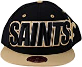 New Orleans Saints NFL Mitchell & Ness, 2 Tone Large Wordmark Hat, TT47K, Black & Gold