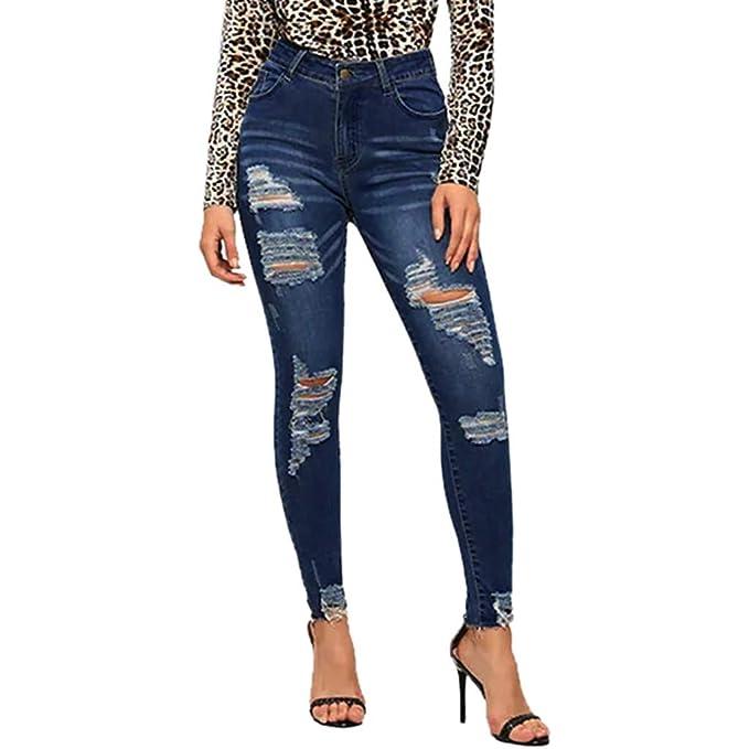5958417479 HCFKJ Jeans Donna I Jeans Elasticizzati delle Donne alla Moda Sono ...