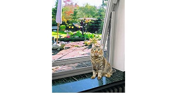 Malla metalica ventanas 65x16 cm blanco TRIXIE Seguridad para gatos en casa: Amazon.es: Productos para mascotas
