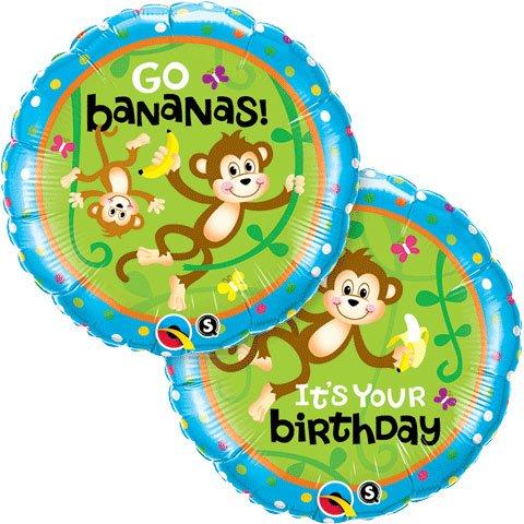 (PIONEER BALLOON COMPANY B'day Monkeys Go Bananas Pack, 18