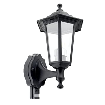Mirrorstone Outdoor Traditional Wall Lantern With PIR Sensor IP44 Waterproof Black