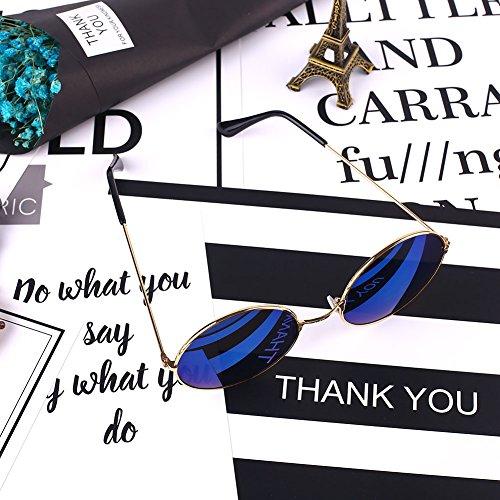 Casual Azul Glasses de UV Libre Sol Protección Woman al Gafas wlgreatsp Aire Femeninas 7pzzq