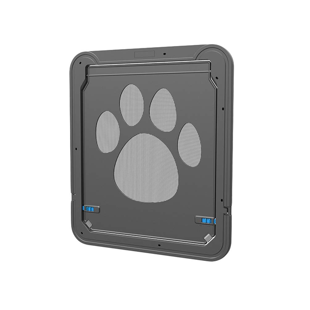 Yuncai Conveniente Originale 2 Vie Entrata e Uscita Controllabile Porta per Animali Domestici Cani Gatti Nero 42 * 37CM