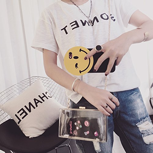 Women Handbag Cute Clear Clear Through Body Clutch Cross Evening Acrylic Transparent See Box Bag Purse TSqrw4Tgx