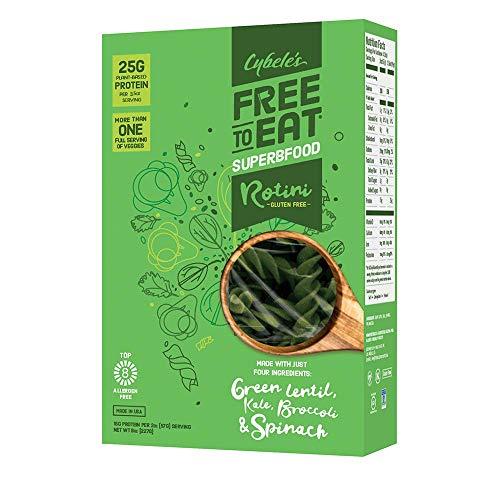 Cybele's Free-to-Eat Superfood Veggie Pasta, Superfood Green, 8 Ounce Box