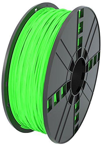 MG Chemicals brilla en la oscuridad - Filamento de impresora 3D ABS verde, 1.75 mm, carrete de 1 kg
