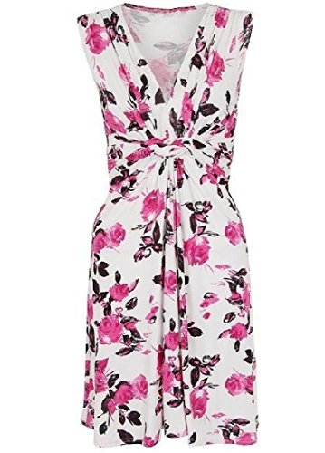 Pink Beach Coolred Floral Mini Spring Dress Women Sleeveless WwnqPp1