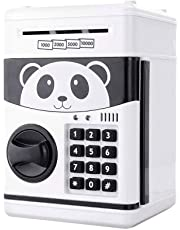 Jhua Cartoon Piggy Bank Cash Coin Can Password Electronic Money Bank Safe Saving Box ATM Bank Safe Locks Panda Smart Voice Prompt Money Piggy Box for Children/ Christmas Gift
