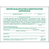 Driving Qualification & Identification Certification Cards (Qty: 48 Units)