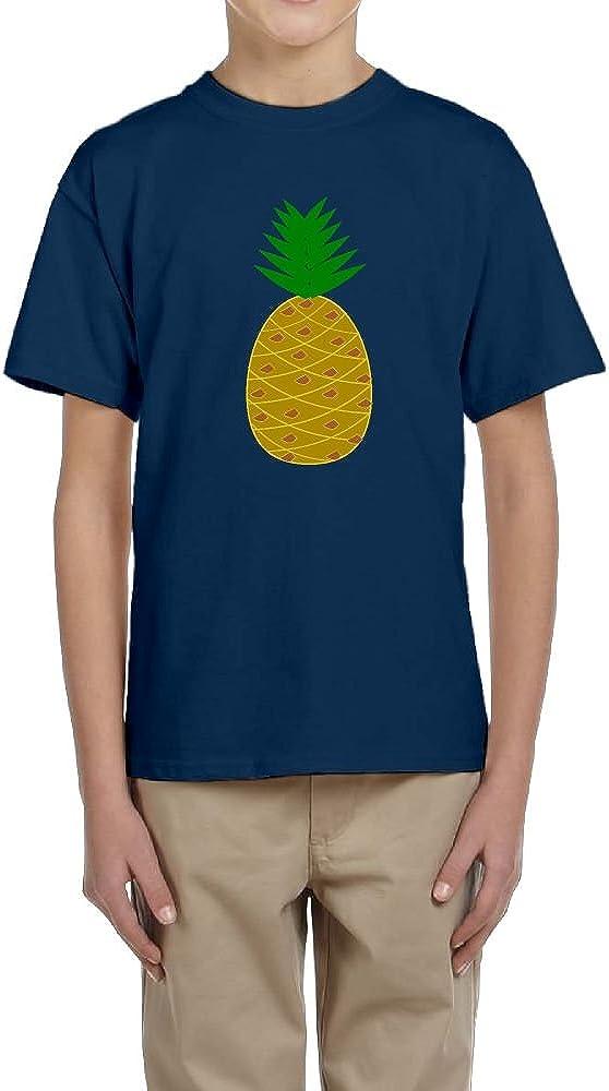 Fzjy Wnx Short Sleeve T-Shirts Youth Crew-Neck Funny Pineapple for Boy