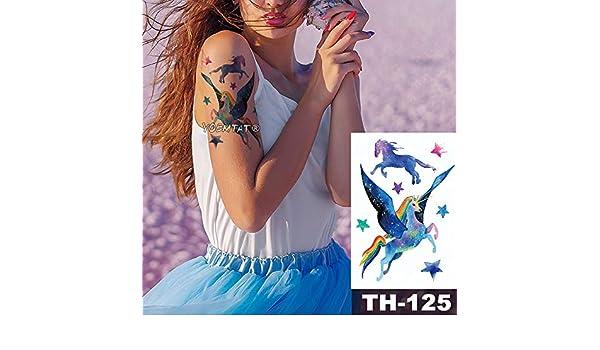 Impermeable Etiqueta del Tatuaje Temporal Estrella del Arco Iris ...