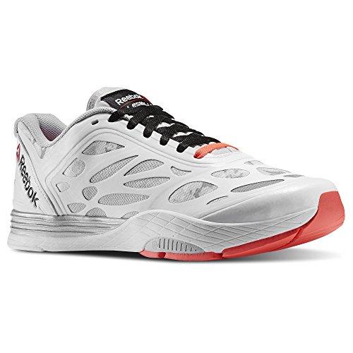 Reebok Women's LM Cardio Ultra W Dance Shoe, White/Steel/Matte Silver/Neon Cherry/Black, 8 M US by Reebok