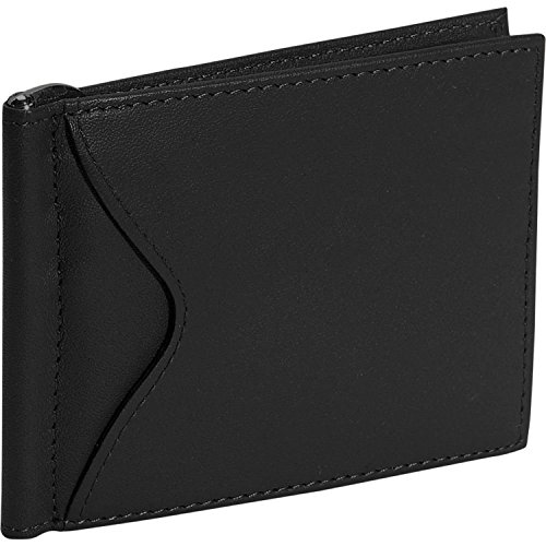Royce Leather Men's Slim Money Clip Credit Card Wallet in Leather, Black
