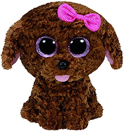 dfc98d6cc9e Amazon.com  Ty Beanie Boos Maddie The Brown Dog with Bow Plush  Toys ...