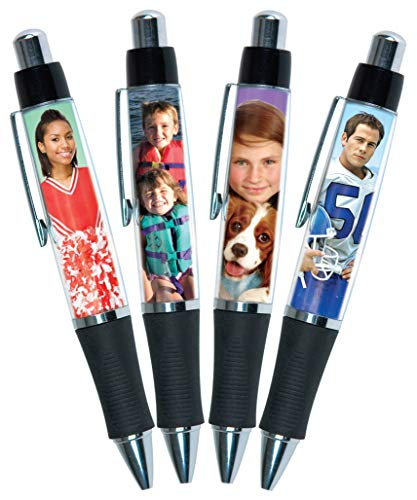PixPen 4-pack - DIY Photo Pen - Create your own personalized pen - Insert 2.5
