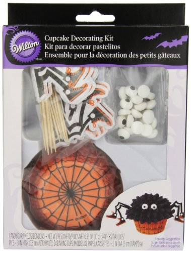 Wilton 415-0382 Halloween Baking Cup Decorating Kit with Sprinkles ()