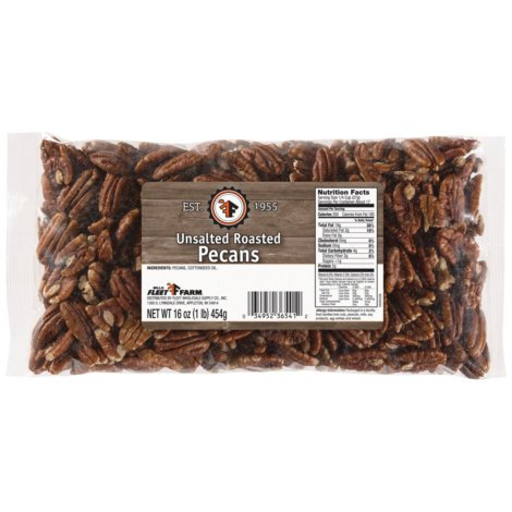 Mills Fleet Farm Unsalted Roasted Pecans - 16 Oz. (Fleet Farm)