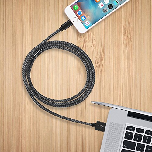 Review iPhone Cords, Manyi 3Pack [3FT 6ft 10ft] Lightning Charging Cable to USB Data lines for iPhone 7 / 7 Plus / 6s / 6s Plus / 6 / 6 Plus / 5 / 5s / 5c, iPad mini /Air /Pro iPod touch ( Black & Gray )