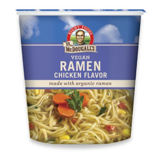 Dr. McDougall's Right Foods Ramen Chicken Soup with Noodles, 1.8 Ounce Cups (Pack of 6) Non-GMO, No Added Oil,...