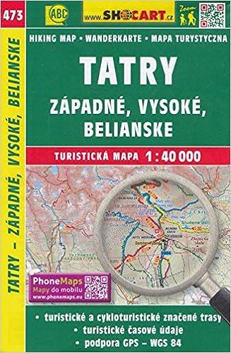 Tatra Mountains (Slovakia, Poland) 1:40, 000 Hiking Map, GPS