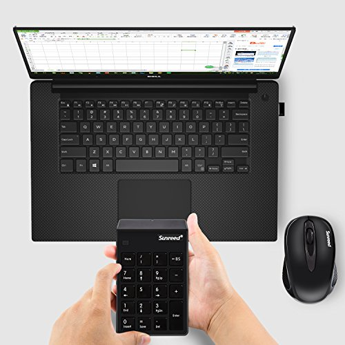 Numeric Keypad and Mouse Combo(Enhanced Version), 2.4G Wireless Mini Keyboard and Mouse With USB Receiver(No Device Drivers Needed), 2-in-1 Keyboard Set for Office Laptop Desktop PC Notebook by Vonsen (Image #2)
