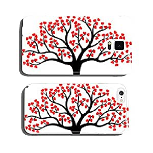 Stylized love tree made of hearts cell phone cover case iPhone5