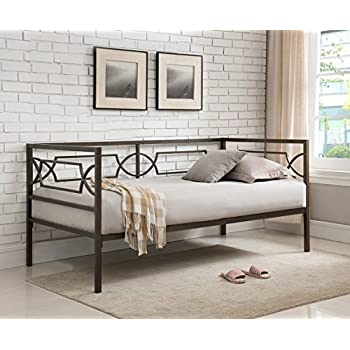kings brand furniture brooklyn twin size metal daybed frame pewter