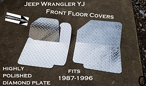 Jeep Wrangler YJ Highly Polished Diamond Plate Front Floor Cover ()