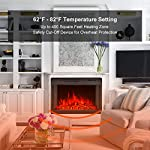 BEAMNOVA Electric Fireplace Wall Insert Freestanding Heater Wall Mounted with Remote Control by BEAMNOVA