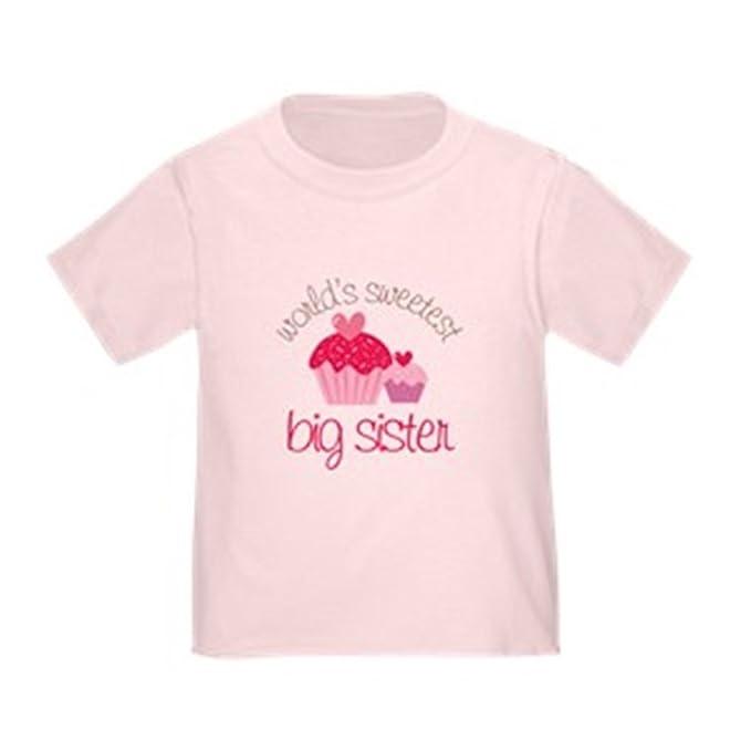 47d834687 Amazon.com  CafePress - World s Sweetest Big Sister - Cute Toddler T ...