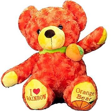 Vobell relleno naranja oso de peluche juguete 19 pulgadas
