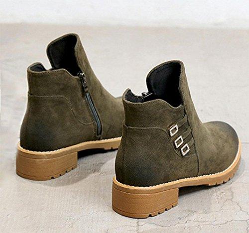 KUKI autumn women boots high-heeled Martin boots cheap women's boots round head shorts women's shoes , US6 / EU36 / UK4 / CN36