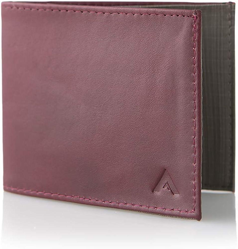 Allett Slim Leather Sport Wallet Navy Blue