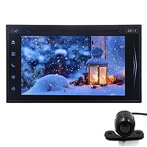 C¨¢mara libre con la radio de coche est¨¦reo en el tablero PC Bluetooth unidad principal de DVD del coche de la tableta de Capactive pantalla Multi-Touch Auto radio de coche