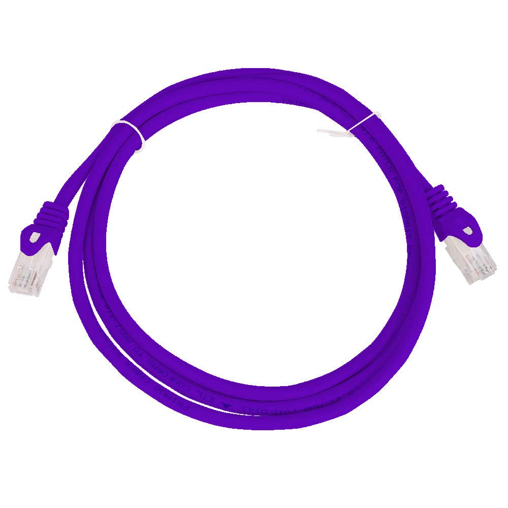 Professional Series Primus Cable CAT5E Ethernet Patch Cable 50 Feet Purple 350 MHz UTP 1Gbps