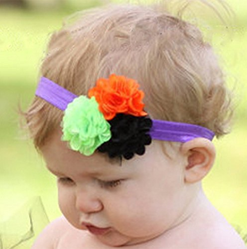 MOKO-PP Baby Girls Halloween Headband Bow Elastic Hair Head Hairband Phtography Props(Multicolor,B) -