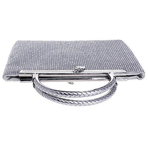 x bourse à sac silver femmes 25 mariage diamant sac aux bal x pochettes de fête main 3 promo cm de 18 soirée C4aaw8
