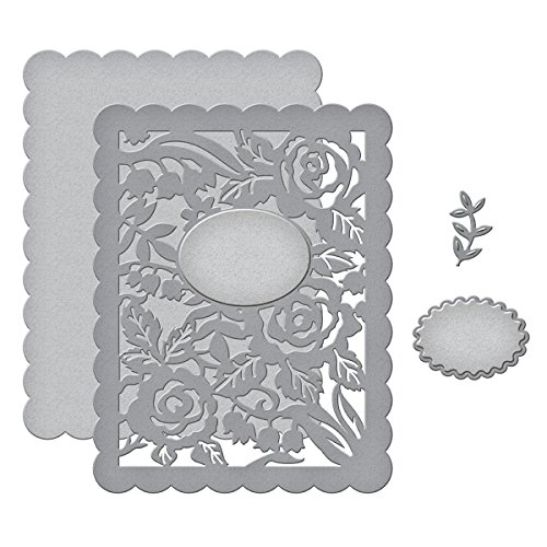 Floral Panel Card Etched/Wafer Thin Die ()