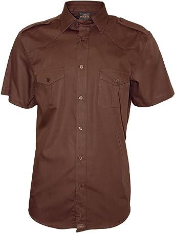 ROCK-IT Apparel® Camisa de Hombre de Manga Corta Camisa de los Estados Unidos con Aspecto Militar Camisa Worker de Tiempo Libre Fabricada en Europa ...