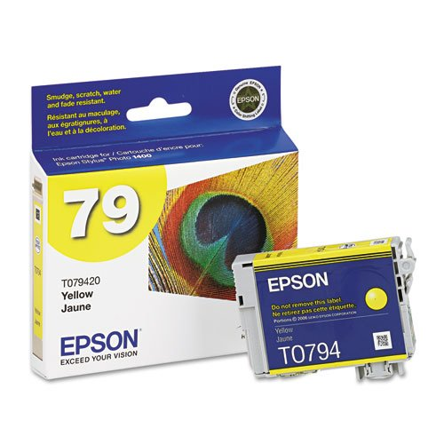 Epson - T079420 Claria Ink, 810 Page-Yield, Yellow T079420 (DMi - Yellow T079420 Claria Ink