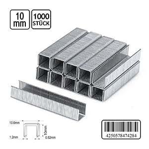 1000Grapas F. grapadora 10,6x 10mm grapas grapas