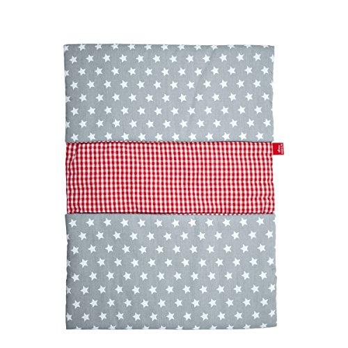 La fraise rouge - Pomo para muebles, diseño a rayas, grande blanco, gris Talla:longitud de la rosca: 6 cm, grosor de la rosca: 4 mm, diámetro: 4 cm blanco, gris