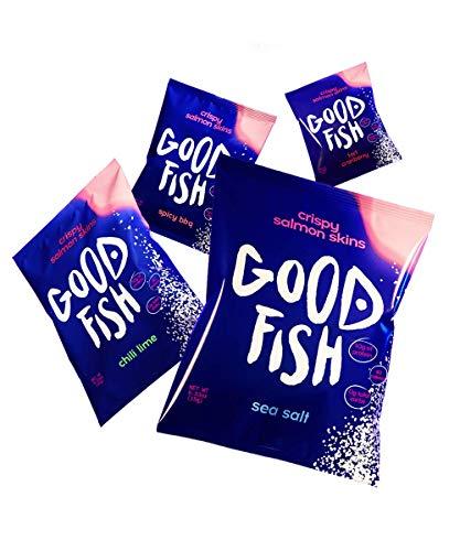 🥇 GOODFISH Crispy Salmon Skin Chips – Variety Pack