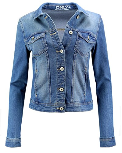 Blouson en Bleu ONLY jean moyen Femme denim Veste 1UwCBdq