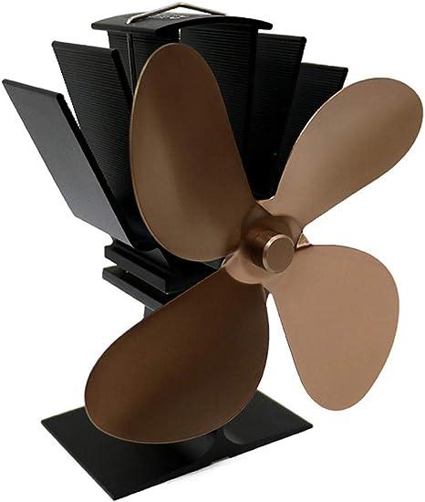 Ventilador De 4 Aspas para Estufa De LeñA O Chimenea,DistribucióN De Calor EcolóGica Y Eficiente, OperacióN Silenciosa,Khaki: Amazon.es: Deportes y aire libre