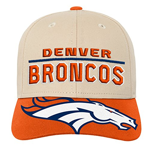 NFL by Outerstuff NFL Denver Broncos Youth Boys Retro Style Logo Structured Hat Orange, Youth One Size -