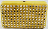 Yellow Stud Clutch Wallet w/Outside Pocket, Bags Central
